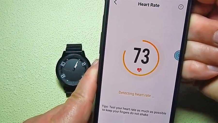 Измерение пульса Lenovo Watch X