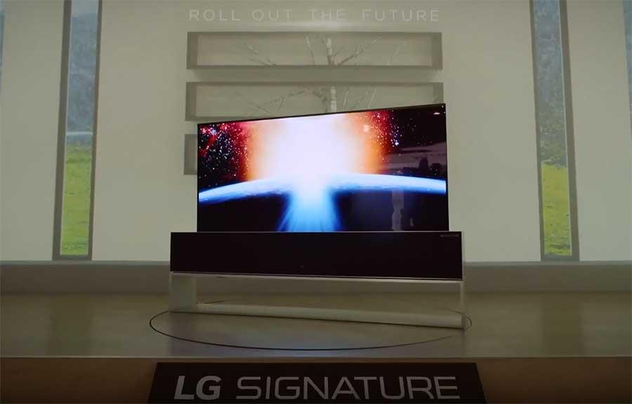 рулонный телевизор LG R9