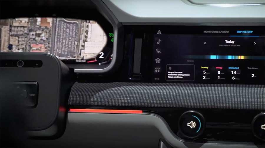 панель автомобиля от Samsung