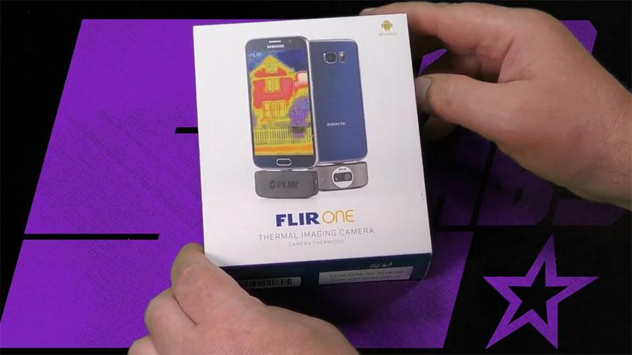 распаковка Flir One