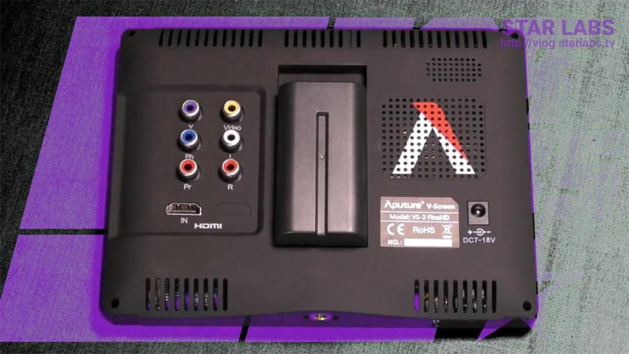 Aputure VS 2 FineHD KIT панель разъемов
