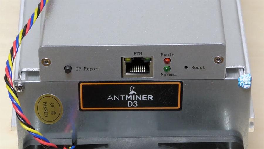 BITMAIN AntMiner D3 разъемы