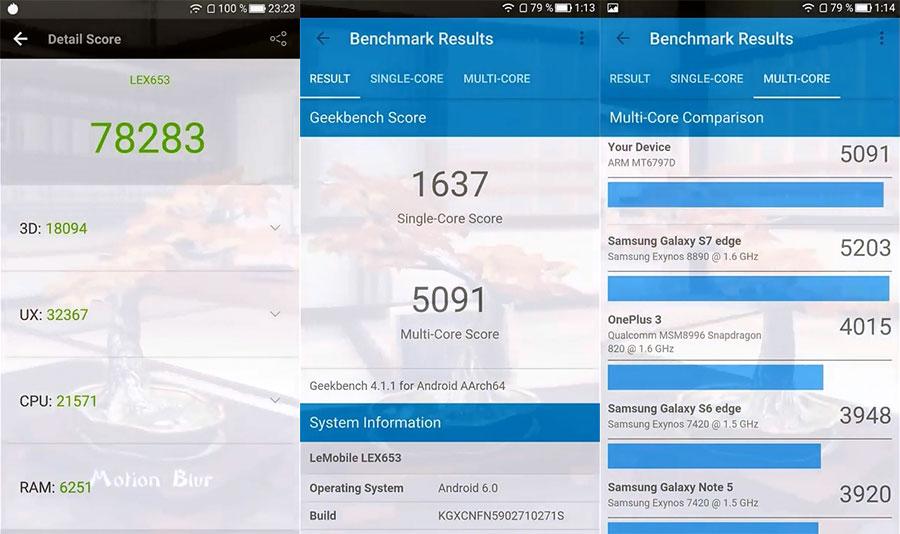 LeEco LeTV Pro 3 X651/X653 AI тест