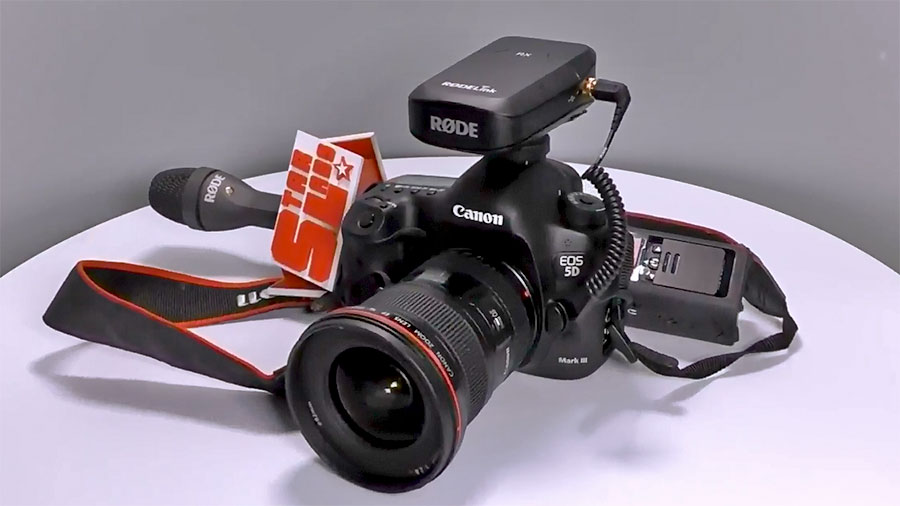 RODE Reporter и RODE RODELink Newsshooter KIT на камере Canon 5D Mark III