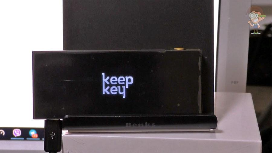 Дисплей кошелька KeepKey
