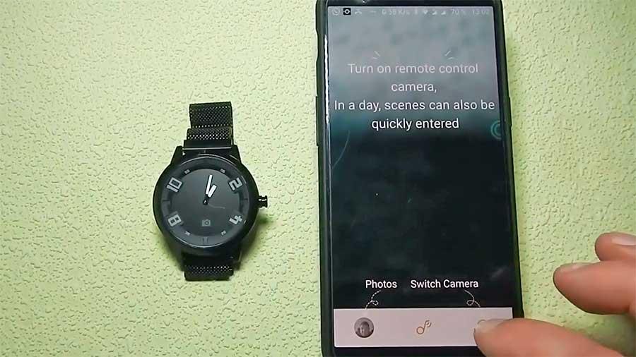 Управление камерой через Lenovo Watch X