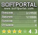 Просмотры и закачки программы на softportal.com