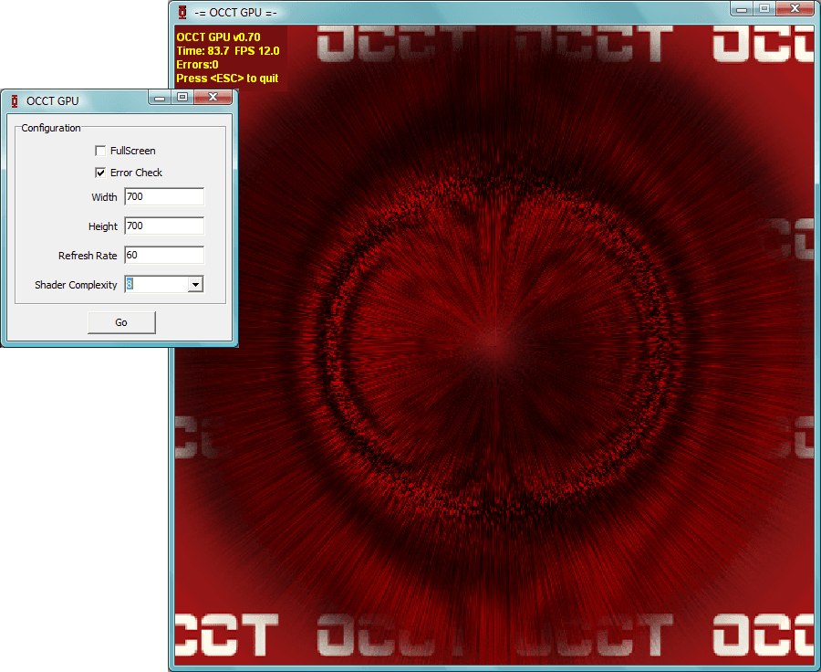 Occt - users will be able to access options such as resolution, shader complexity
