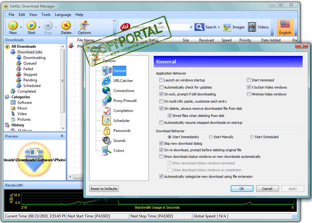 GetGo Download Manager - скачать бесплатно GetGo Download