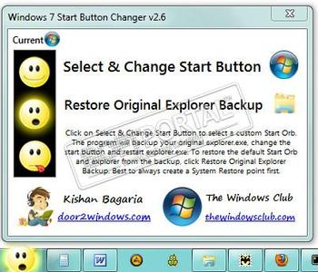 Windows 7 Start Button Changer - скачать бесплатно Windows 7