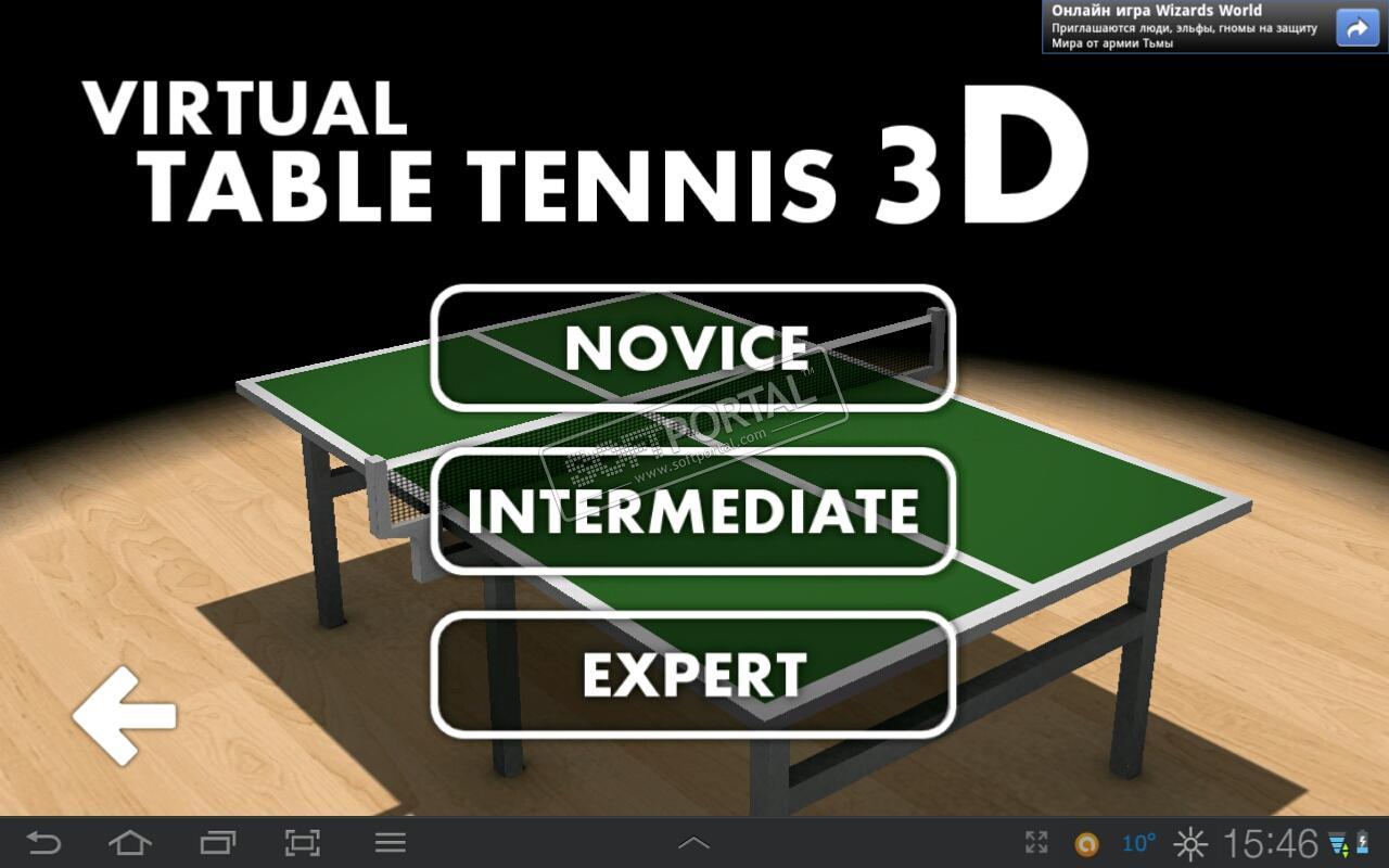 Скачать Virtual Table Tennis 3D на андроид — Mobigama