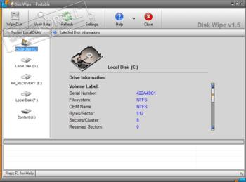 Disk Wipe - скачать бесплатно Disk Wipe 1 7