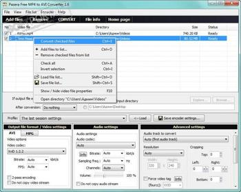 Free MP4 to AVI Converter