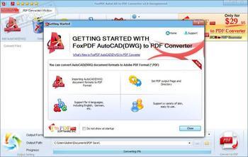 Конвертация PDF в DWG с помощью Фотоконвертера
