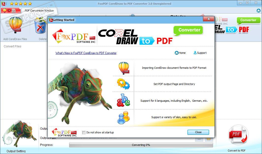 FoxPDF CorelDraw to PDF Converter