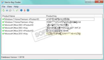 SterJo Key Finder - скачать бесплатно SterJo Key Finder 1 8