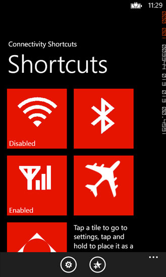ConnectivityShortcuts