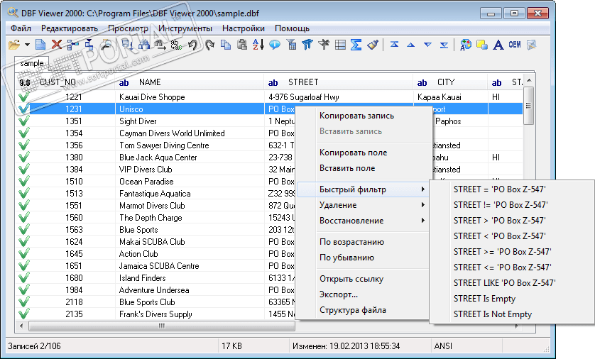 Query csv files with sql and convert