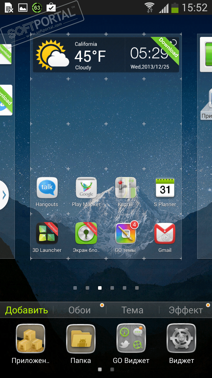 free go launcher android themes