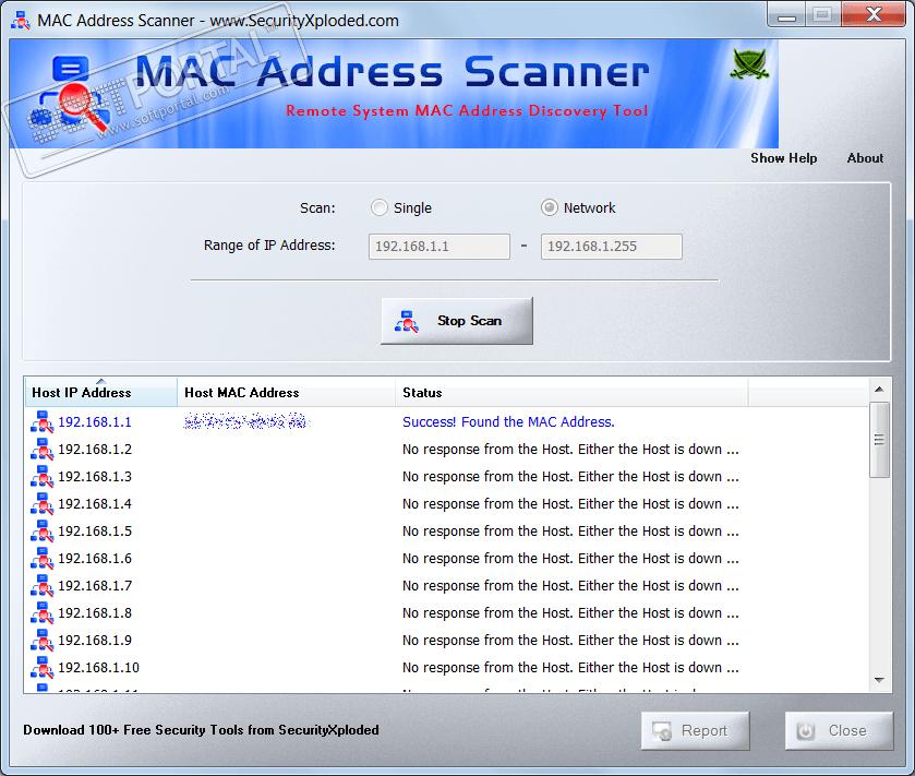 Программа mac address scanner скачать бесплатно