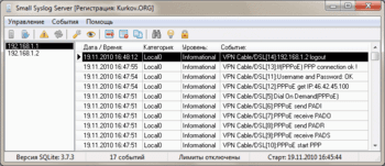 Small Syslog Server download free for windows 7 64bit current