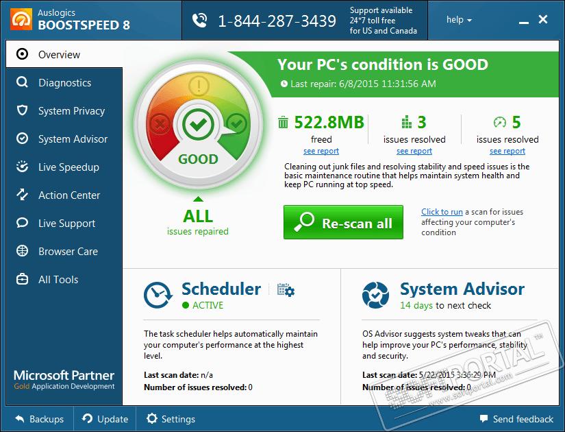 Скриншот программы AusLogics BoostSpeed 10.0.0.0