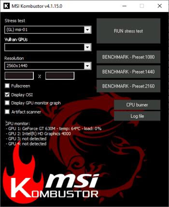 Msi Kombustor скачать с официального сайта - фото 7