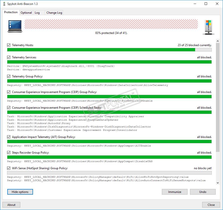 spybot beacon 1.6