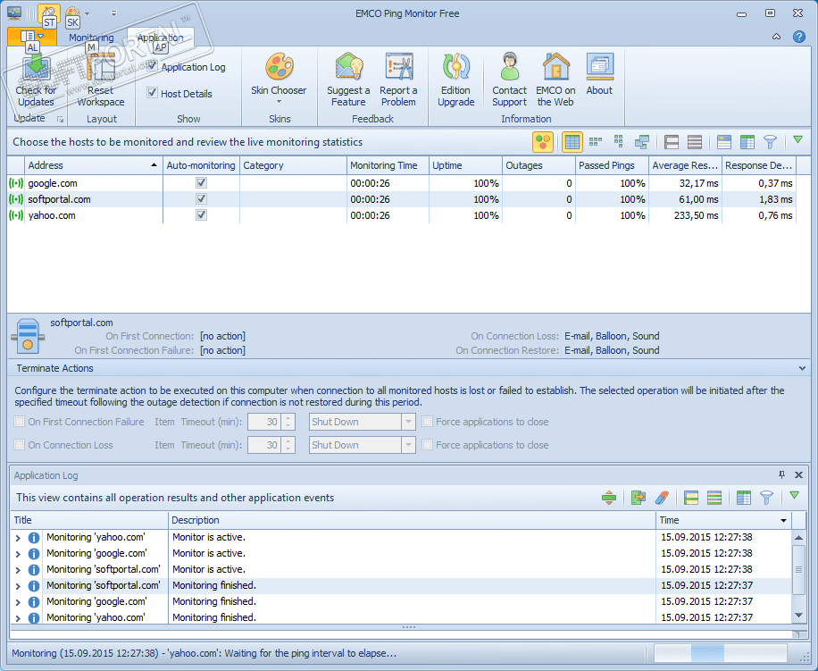 Ping monitor check host monitor ip ping verify host check