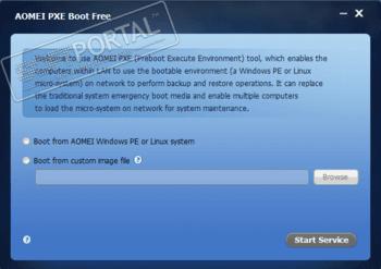 AOMEI PXE Boot - скачать бесплатно AOMEI PXE Boot 1 5