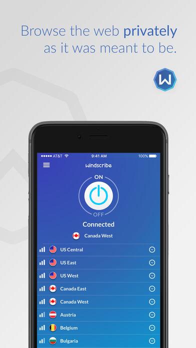 5ddb9a7292f8 Windscribe VPN - скачать бесплатно Windscribe VPN 1.22 для iPhone, iPad