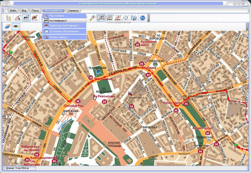 Электронная карта москвы скачать