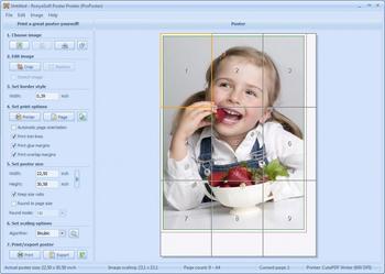 Как разделить картинку на 4 части для печати в формате а4