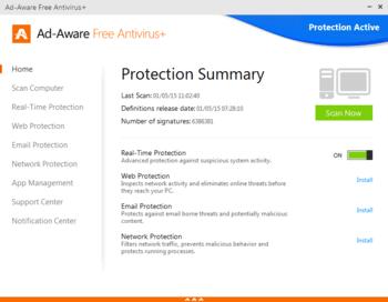 Ad-Aware Free Antivirus+ для Windows 10