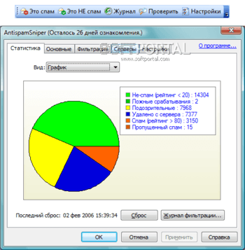 AntispamSniper для Outlook 3.2.7.1